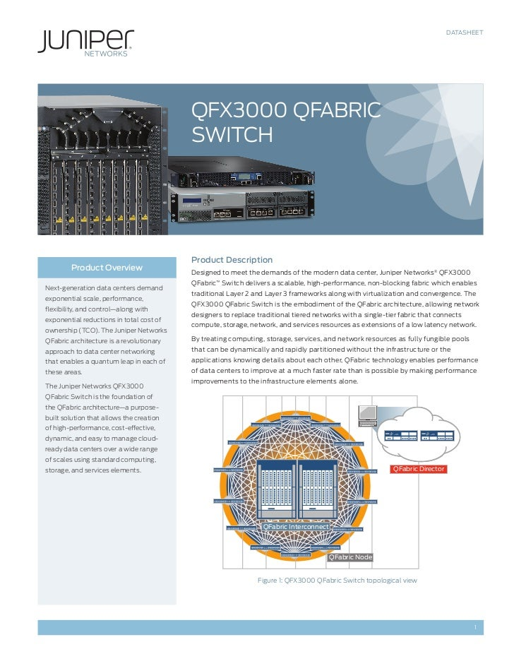 DATASHEET                                          QFX3000 QFABriC                                          SwiTCH        ...