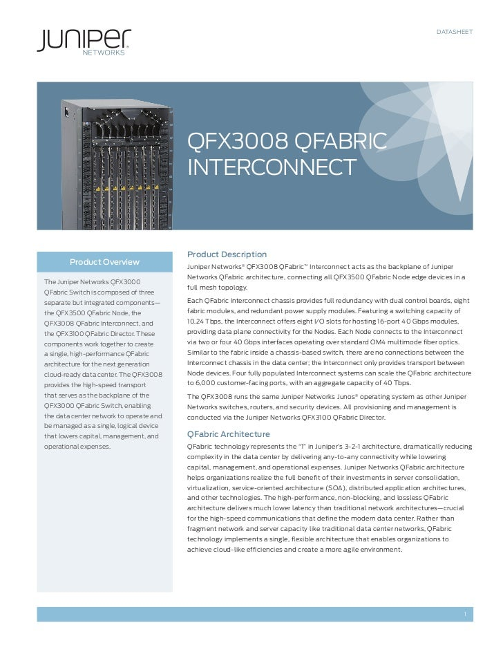 DATASHEET                                         QFX3008 QFAbRIc                                         INTERcONNEcT    ...