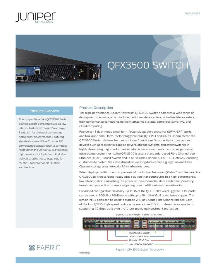 DATASHEET                                                                QFX3500 SWITCH                                   ...