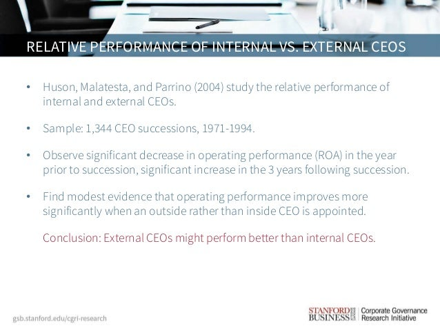 ceo turnover and relative performance There is considerable and widespread concern about whether ceos are appropriately punished for poor performance the empirical literature on ceo turnover documents.