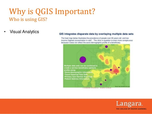• Visual Analytics Why is QGIS Important? Who is using GIS?
