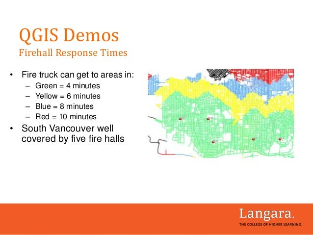 • Fire truck can get to areas in: – Green = 4 minutes – Yellow = 6 minutes – Blue = 8 minutes – Red = 10 minutes • South V...