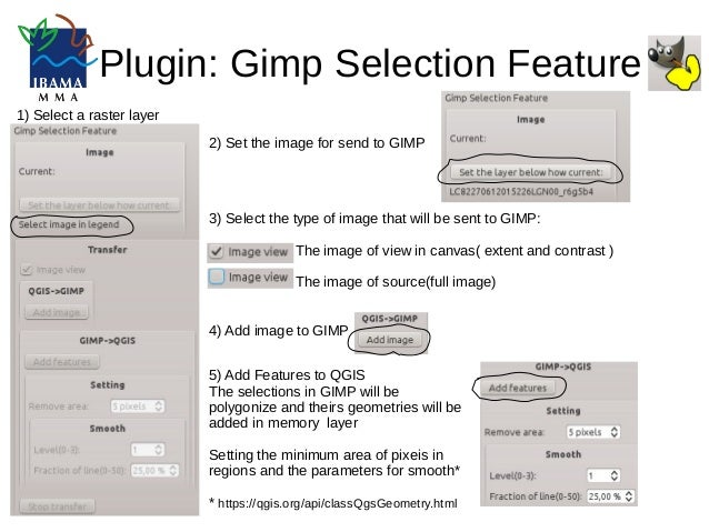 Gimp Selection Feature Plugin QGIS