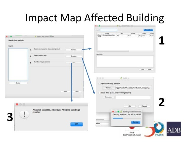 Impact Map Affected Building 1 2 3