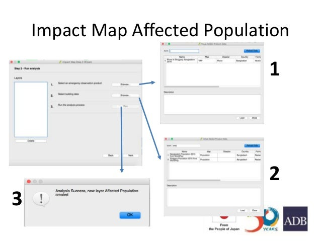 Impact Map Affected Population 1 2 3