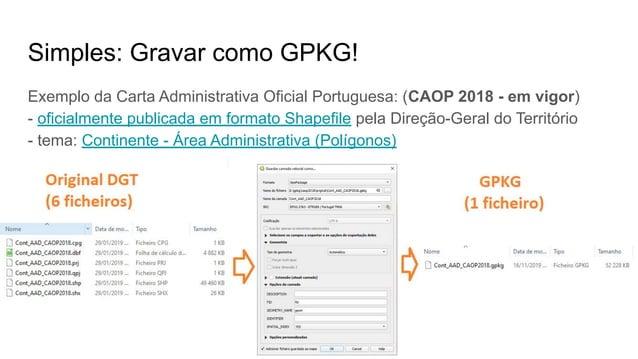 1º QGIS Talks, grupo Utilizadores QGIS Portugal - 16.Novembro.2019 - Coimbra - Ricardo Pinho Simples: Gravar como GPKG! Ex...