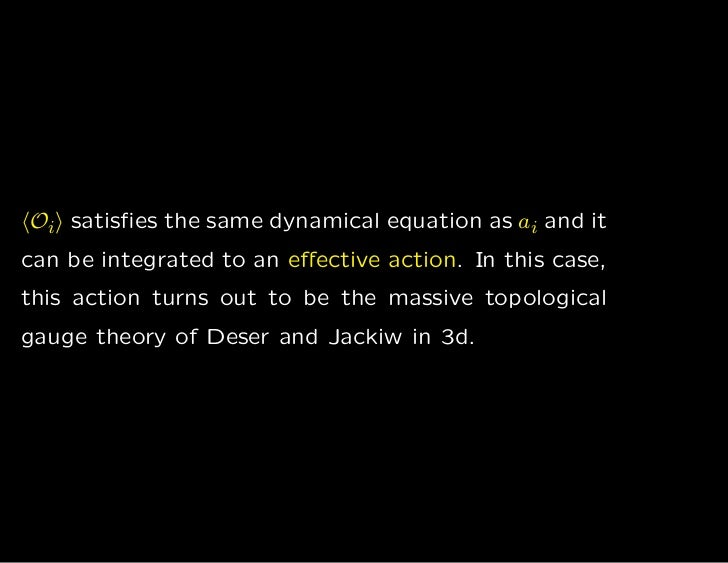 Oi satisfies the same dynamical equation as ai and itcan be integrated to an effective action. In this case,this action turn...