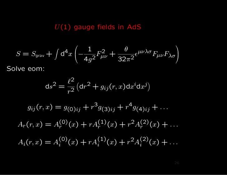 U (1) gauge fields in AdS                                                                                                ...