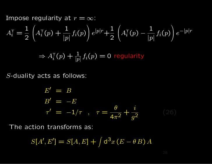 Impose regularity at r = ∞:                                                                          1                ...