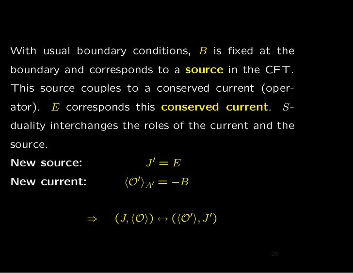 With usual boundary conditions, B is fixed at theboundary and corresponds to a source in the CFT.This source couples to a c...