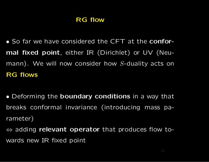 RG flow• So far we have considered the CFT at the confor-mal fixed point, either IR (Dirichlet) or UV (Neu-mann). We will no...