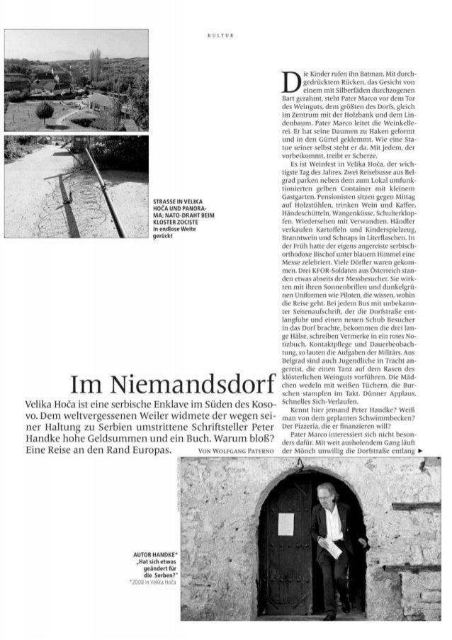 "PETER HANDKE - Im Niemandsdorf  (""Profil"")"