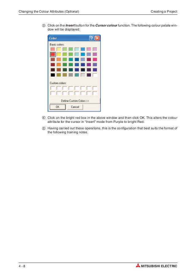 mitsubishi q series plc training manual