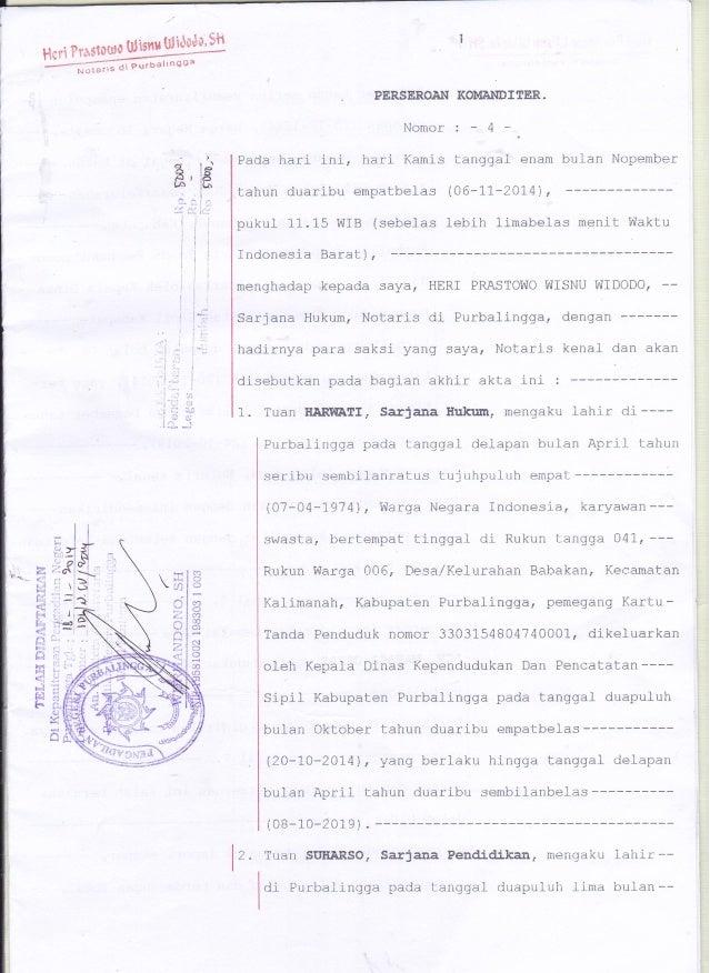 Akte Notaris Cv Mafaza Jaya