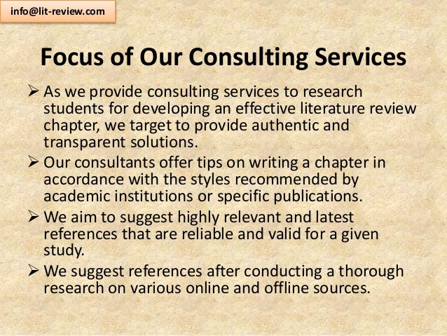 Literature review editing service