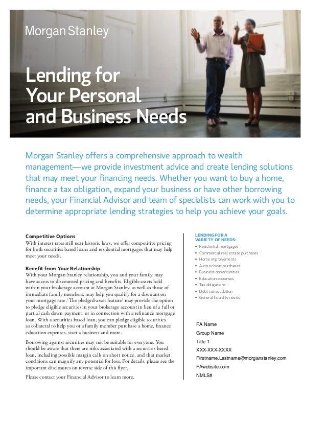 non purpose loan Creative Financing - Non-Purpose Loans