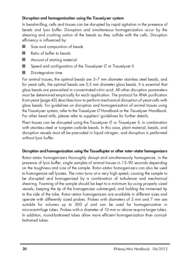 Qiagen handbooks