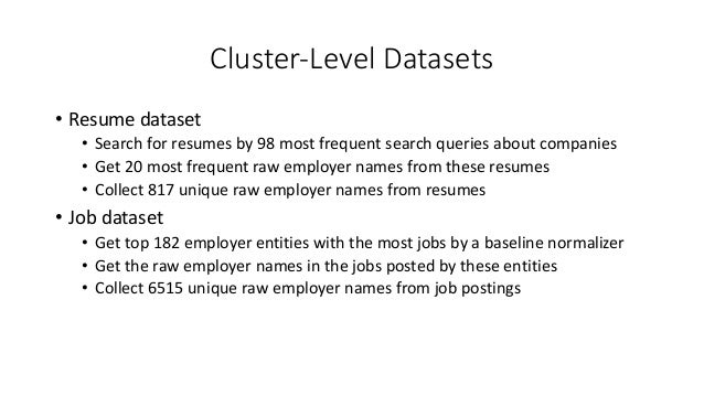 25. Cluster Level Datasets U2022 Resume Dataset U2022 Search ...  Careerbuilder Resume Search