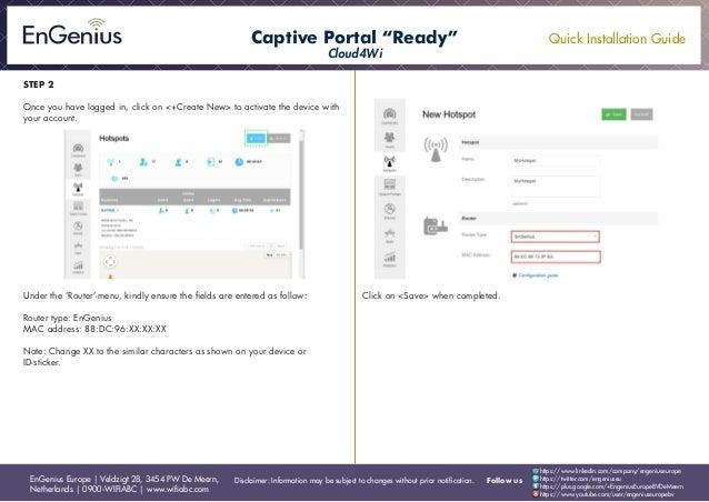quick installation guide captive portal cloud4wi english rh slideshare net Portal Art Portal Art
