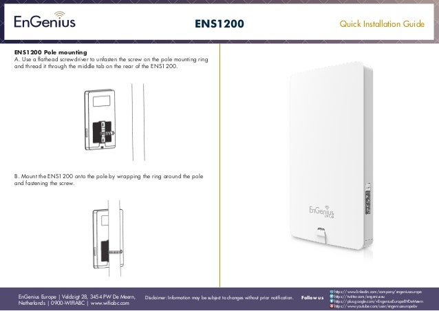 Quick Installation Guide Ens1200 English