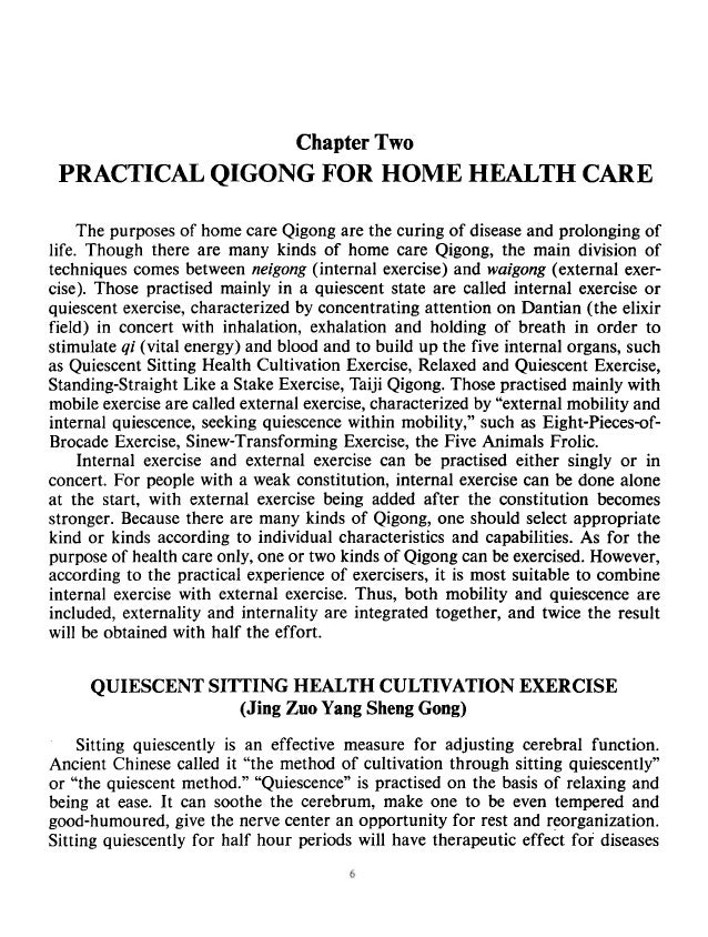 """PRACTICAL QIGONG FOR HOME HEALTH CARE 7 Ifunction. escently"""" xing and ered and Inization. of the nervous, circulatory and ..."""