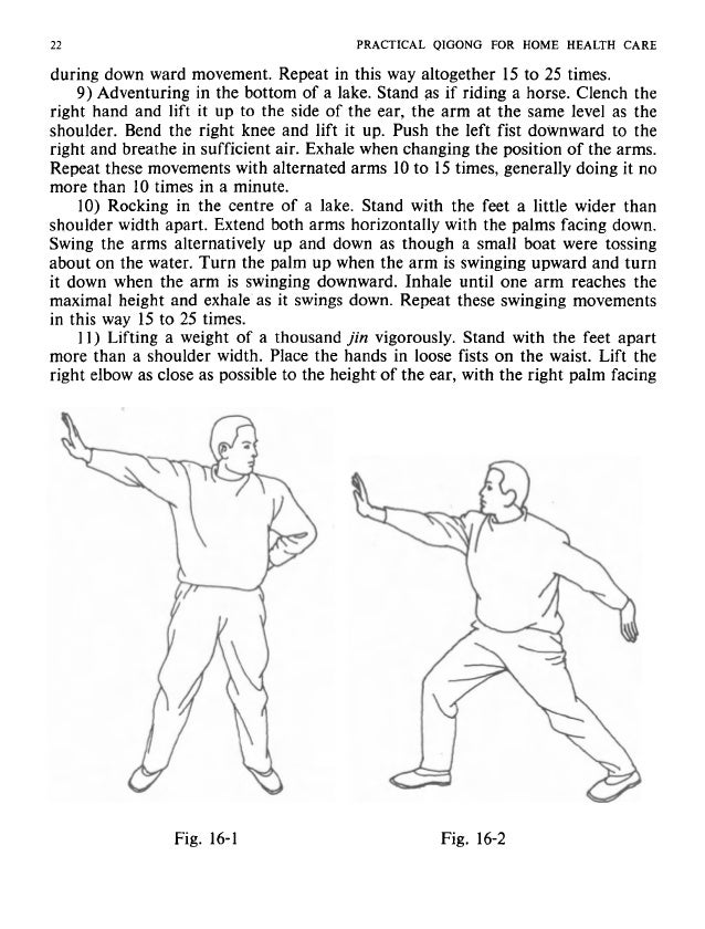 EALTH CARE I PRACTICAL QIGONG FOR HOME HEALTH CARE 23 imes. Clench the eve1 as the 1ard to the f the arms. doing it no wid...