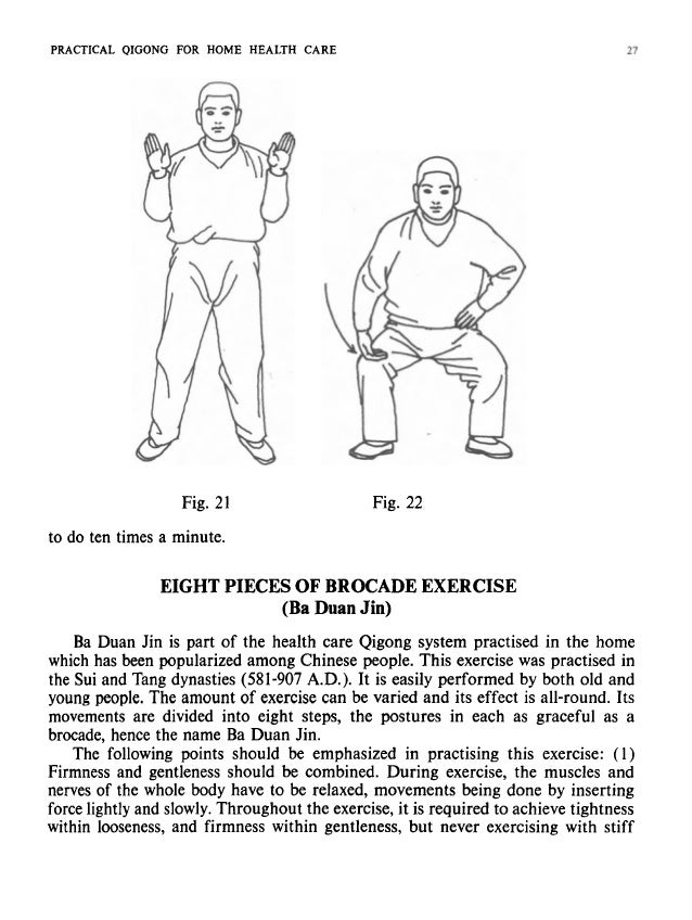 28 PRACTICAL QIGONG FOR HOME HEALTH CARE force. (2) Concentrate the mind on Dantian, thus lowering the centre of gravity o...