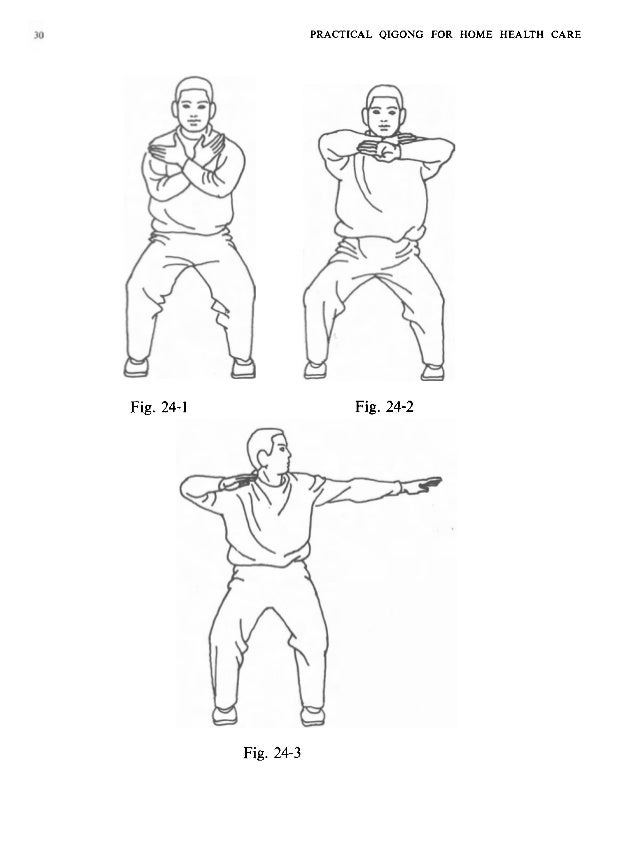 PRACTICAL QIGONG FOR HOME HEALTH CARE 31 with the beginning posture as above. Turn first the left hand slowly with its pal...