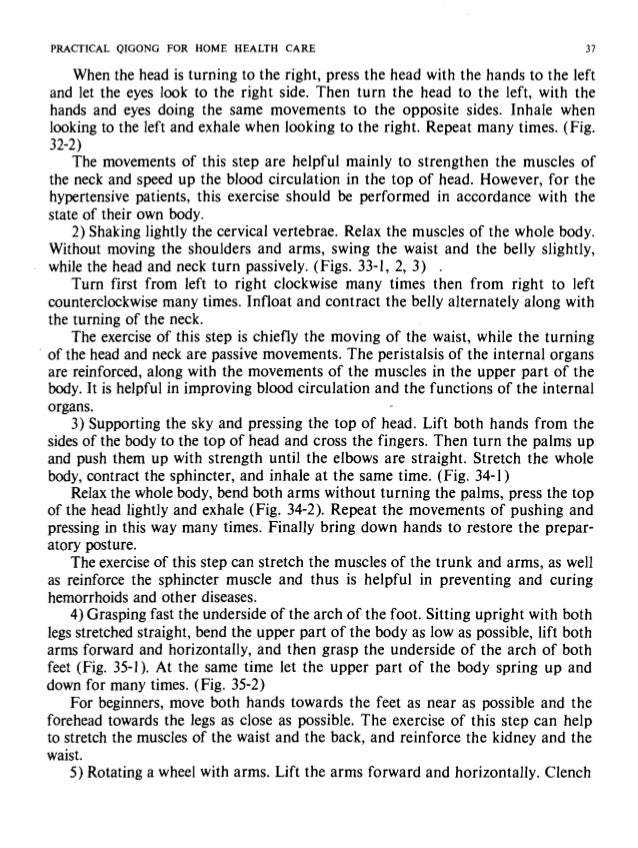 PRACTICAL QIGONG FOR HOME HEALTH CARE PRACTIC Fig. 31 Fig. 32-1 Fig. 32-2