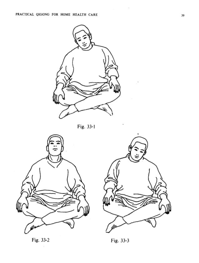PRACTICAL QIGONG FOR HOME HEALTH CARE Fig. 34-1 Fig. 34-2 the hands slightly, then making circles in front of the body by ...
