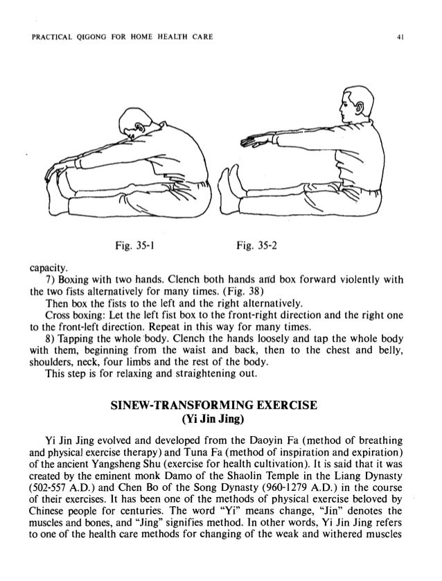 Fig. 36-1 PRACTICAL QIGONG FOR HOME HEALTH CARE I Fig. 36-2 PRACTICA