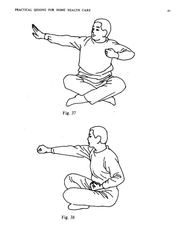44 PRACTICAL QIGONG FOR HOME HEALTH CARE and bones into strong and sturdy ones. Yi Jin Jing is characterized by close comb...