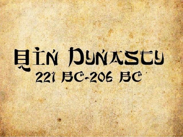 Qin'sImportance Dynasty:asuccessionofpeoplebelongingtothesamefamily,who,through variousmean...