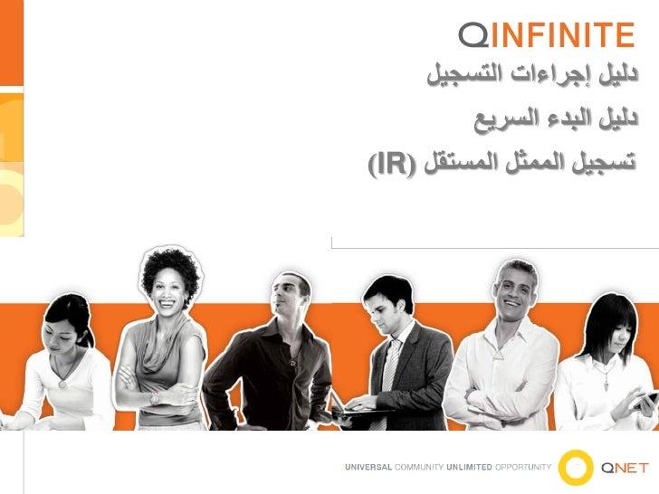 دليل إجراءات التسجيل         دليل البدء السريعتسجيل الممثل المستقل ()IR                    1