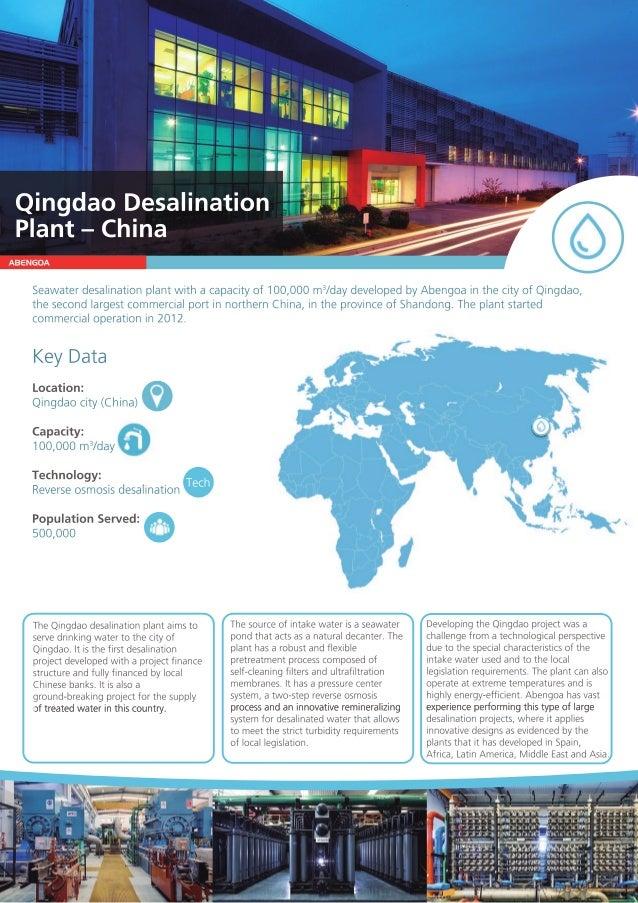 ABENGOA Seawaterdesalinationplantwithacapacityof100,000m3 /daydevelopedbyAbengoainthecityofQingdao, thesecondlargestcommer...