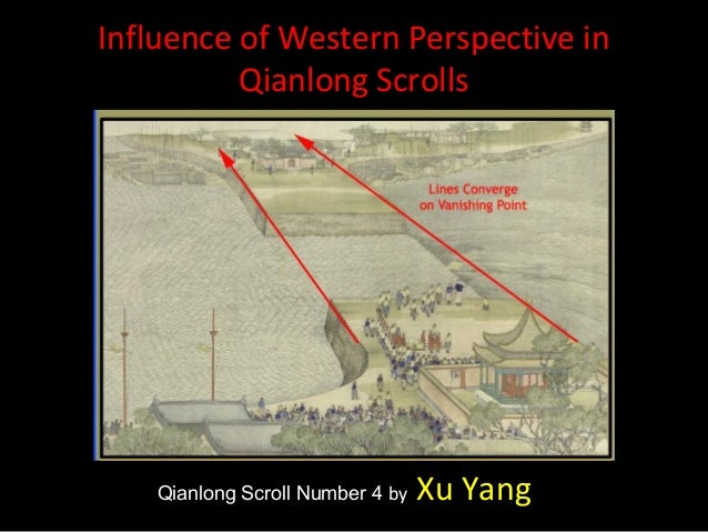 Qianlong Scroll Number 4 by Xu YangMore concerned with reproducing how the eye sees than in Kangxi scrolls. Xu Yang mainta...