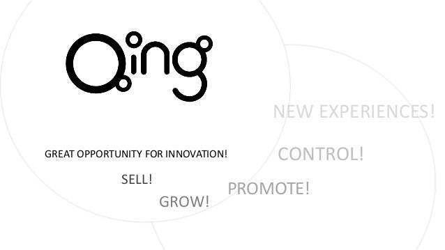 SELL! GROW! PROMOTE! NEW EXPERIENCES! GREAT OPPORTUNITY FOR INNOVATION! CONTROL!