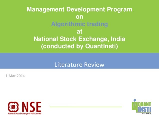 literature review on online trading This is a research report on mba project report on online trading derivatives by rajesh sekar in finance category search and upload all types of mba project report on online trading derivatives projects for mba's on managementparadisecom.