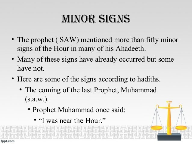 Hadith End Times Signs