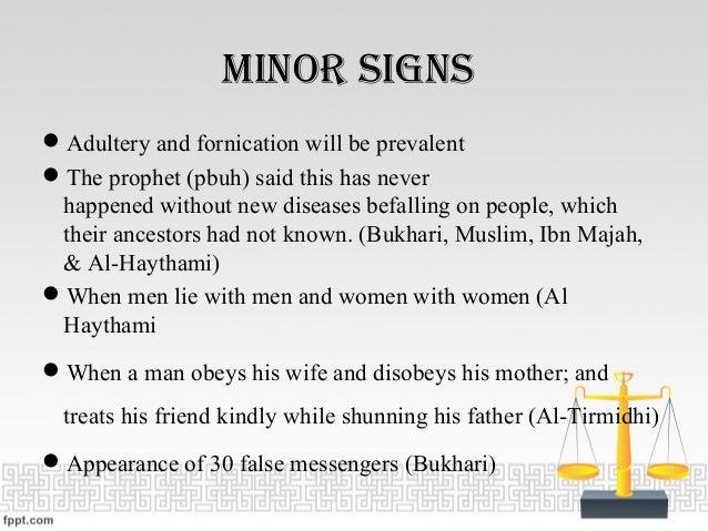 maJor SignS ...