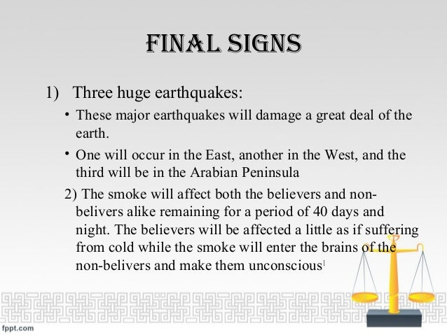 Signs of Qiyamah - Doomsday - The Informative Facts