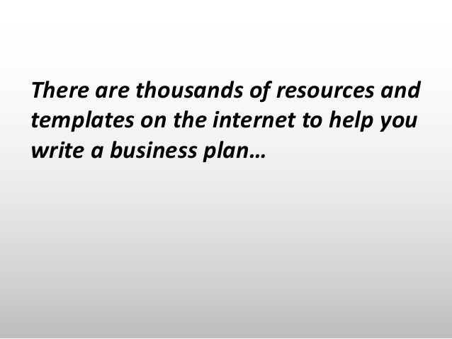 How to Write a Great Business Plan Slide 2