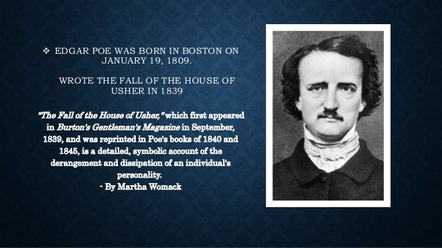 the theme of fear in the fall of the house of usher by edgar allan poe Motifs used in edgar allan poe's the fall of the house of usher learn more about the motifs used throughout the fall of the house of usher by edgar allan poe in this.