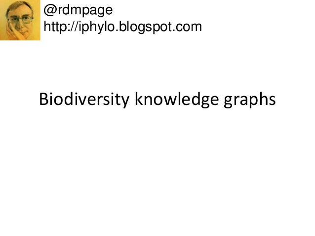 Biodiversity knowledge graphs @rdmpage http://iphylo.blogspot.com