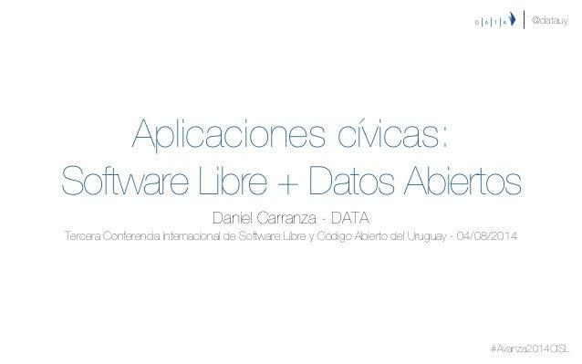 Aplicaciones cívicas: Software Libre + Datos Abiertos Daniel Carranza - DATA Tercera Conferencia Internacional de Softwar...