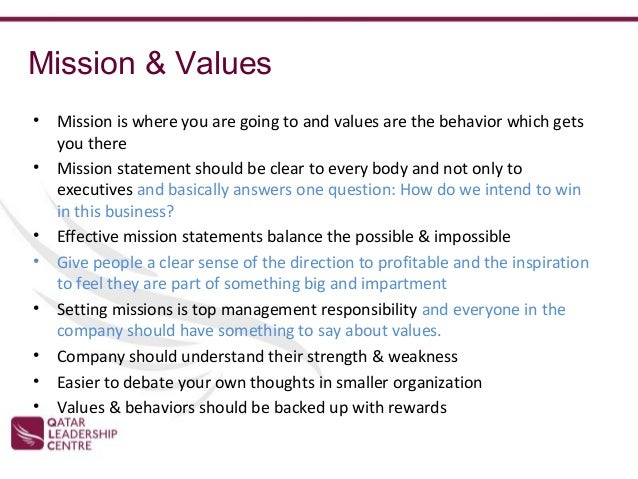 GE Vision & Mission Statement