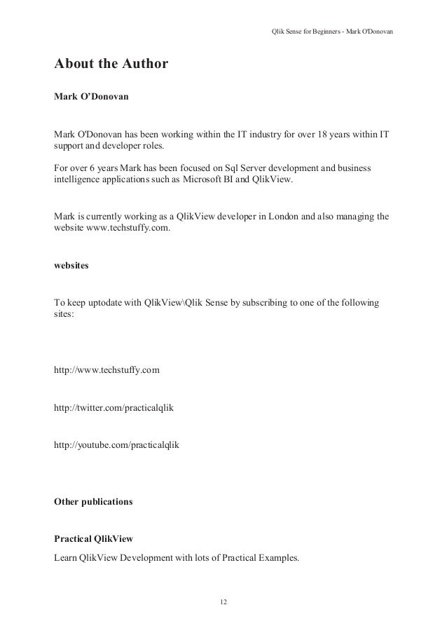 Qlik Sense for Beginners - www techstuffy com - QlikView