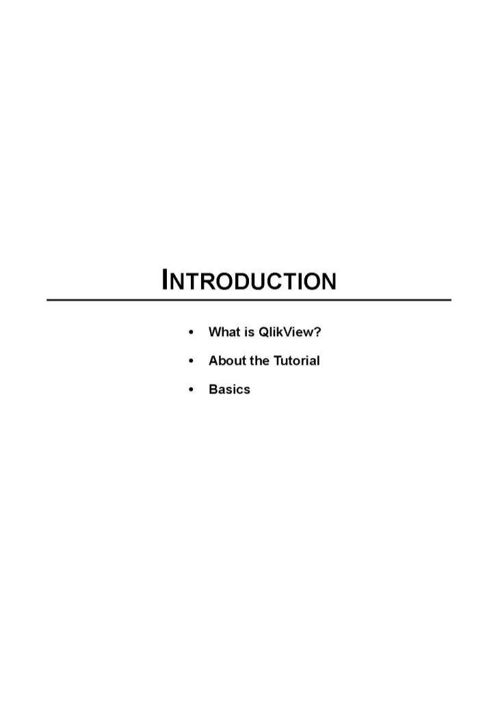 Qlik view introduction