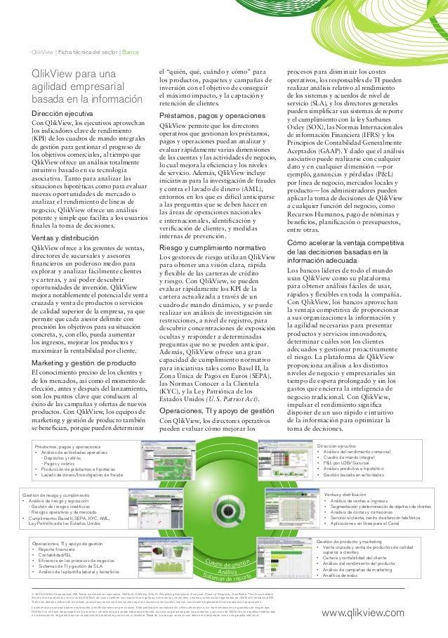 QlikView   Ficha técnica del sector   Banca© 2009 QlikTech International AB. Todos los derechos reservados. QlikTech, Qlik...