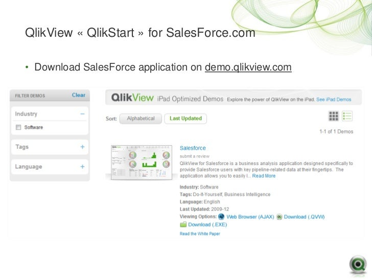qlikview-salesforce-17-728 Qlikview Application Template on data model, access point, set analysis, kpi examples, pivot table,